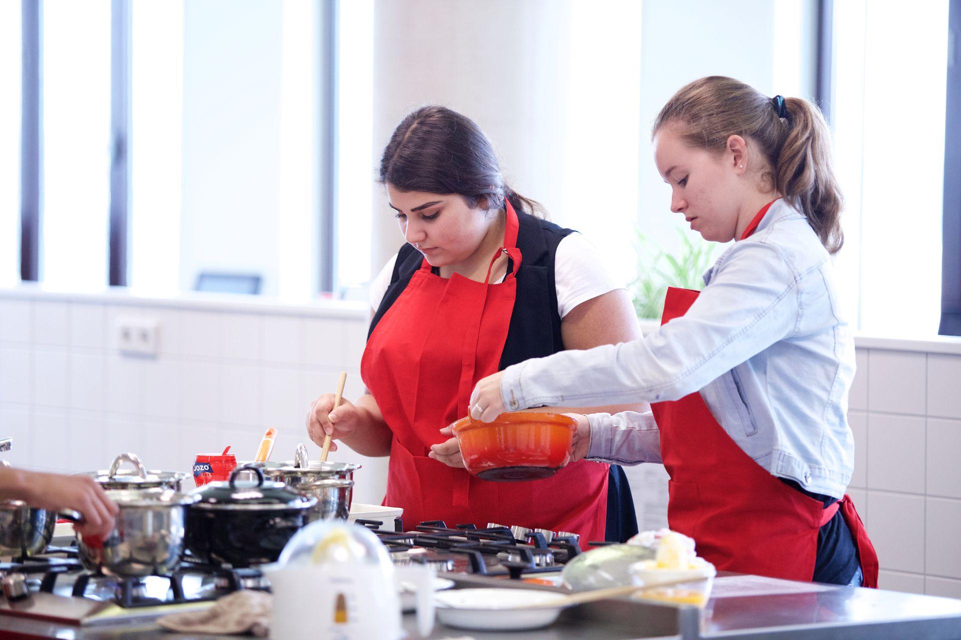 Leren koken leskeuken school